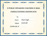 5 Free Coaching Consultations Certificate